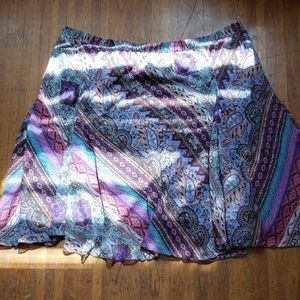 Lane Bryant Multi Color Pleated Skirt